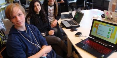Leerlingen van het Metis Montessori Lyceum maken hun eigen games