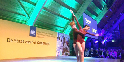 Claire Tjoe-Fat en Gene Goodman van de Nationale Balletacademie in Amsterdam