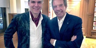 AI-expert Prof.dr. Holger Hoos (l) en Philippe Gudin (oud-directeur van de Zwitserse kostschool Le Rosey)